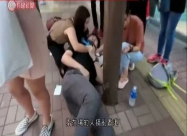 中国大陆男子连侬墙争执刺伤港人   结果---