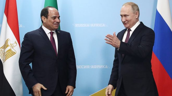 俄罗斯总统普京与埃及总统塞西