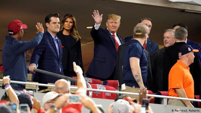USA Donald Trump beim Basketballspiel Washington Nationals - Houston Astros (Reuters/J. Roberts)