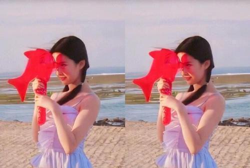 刘亦菲真是从小美到大 16岁海边旧照被扒