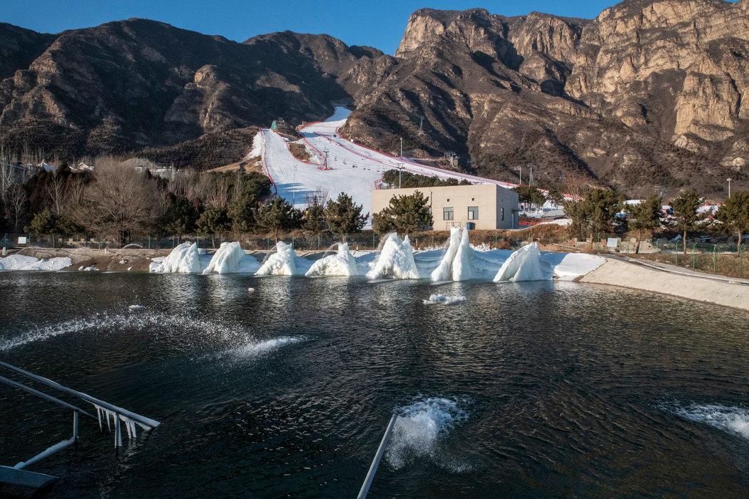 为石京龙的雪炮提供水源的水库,这是中国第一个这样的系统。