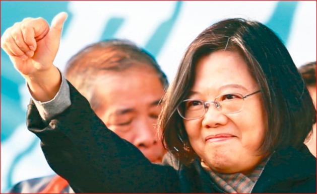 民调:蔡英文领先韩国瑜34% 近5成怕韩当总统