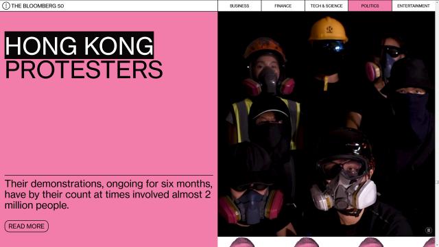 彭博全球50大最具影响力人物  香港示威者上榜