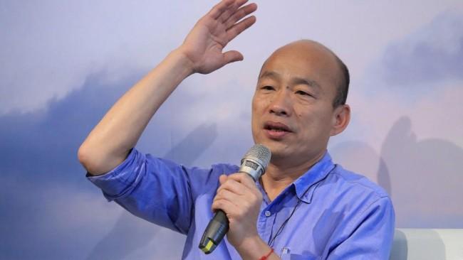 韩国瑜:若当选总统不会离开高雄 不会落跑