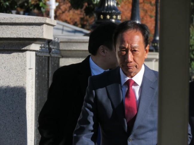 白宫开会后受访 郭台铭:时机敏感 不要谈较好