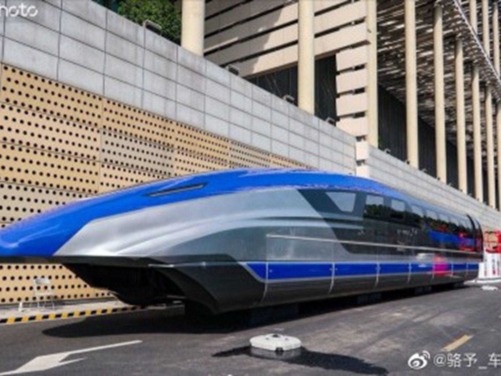 时速600公里 中国高速磁浮列车首露真容