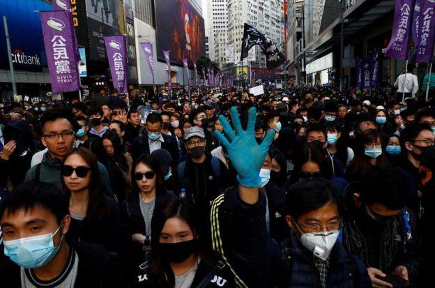 """香港""""民阵""""星期日发起""""国际人权日游行"""""""