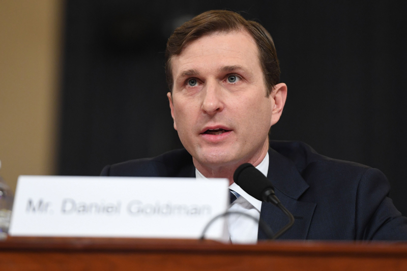 代表民主党的律师戈德曼(Daniel Goldman)。Getty Images