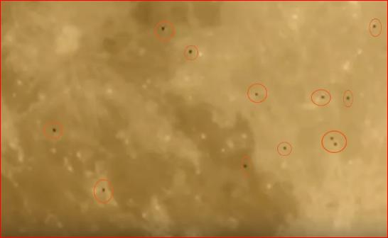 俄罗斯小哥拍到UFO舰队飞过月球