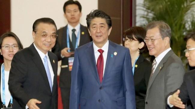 北京呼吁建立自贸区 安倍:改善中日关系有难度