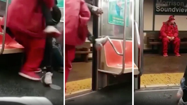 趁女孩父熟睡 纽约地铁变态汉一把将其抱走……
