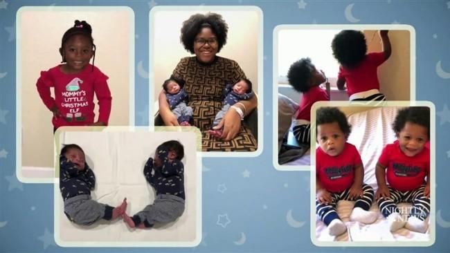 像中了彩票 美国佛州妈妈一年生下两对双胞胎