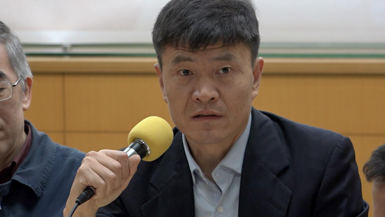 六四学生领袖、现任人道中国主席周封锁。(记者陈明忠摄)
