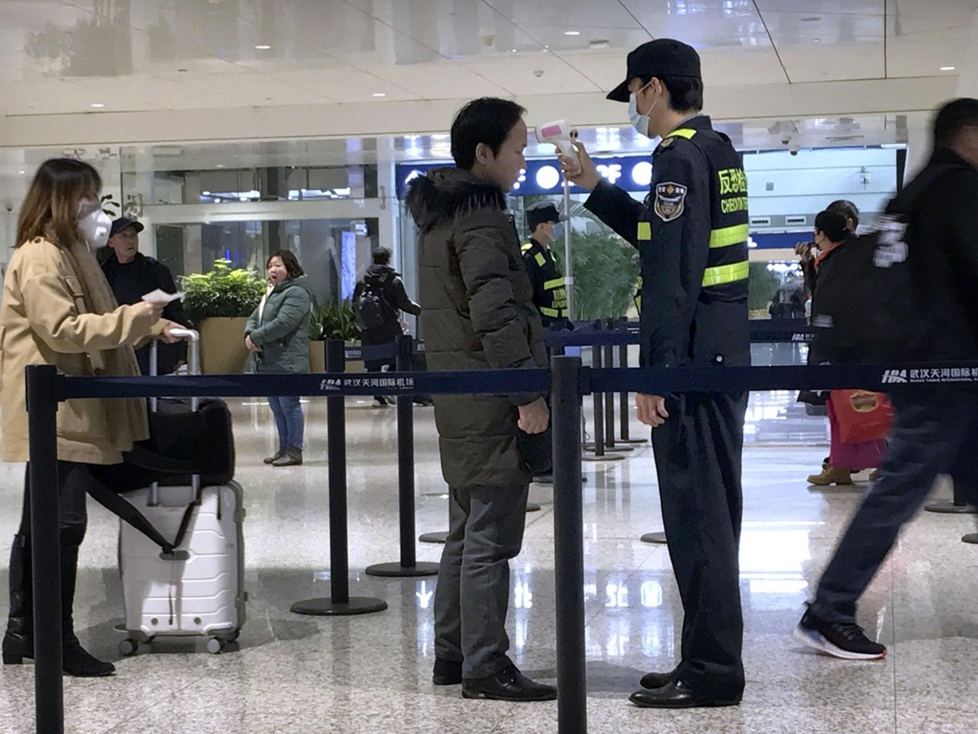 为遏制新型冠状病毒感染引起的肺炎疫情进一步扩散,中国武汉市1月21日开始对进出武汉人员加强管控。(AP)