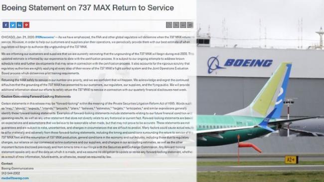 计划再受挫 波音737 MAX客机最快今年中才复飞