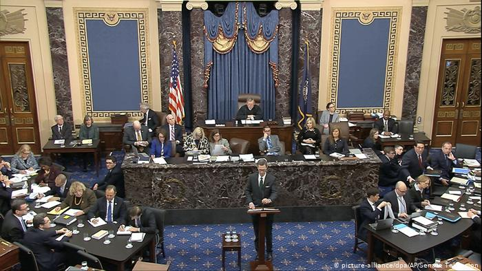 Amtsenthebungsverfahren in den USA (picture-alliance/dpa/AP/Senate Television)