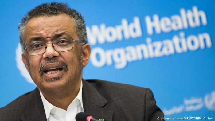 Schweiz Genf   Pressekonferenz WHO - Tedros Adhanom Ghebreyesus Ruft Gesundheitsnotstand wegen Coronavirus aus (picture-alliance/KEYSTONE/J.-C. Bott)