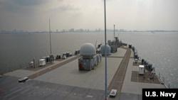 美国第七舰队的蓝领级指挥舰USS Blue Ridge 在亚太地区巡航。美国海军资料照。