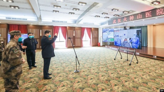 """习近平3月10日在武汉视频""""看望""""医院患者.jpg"""