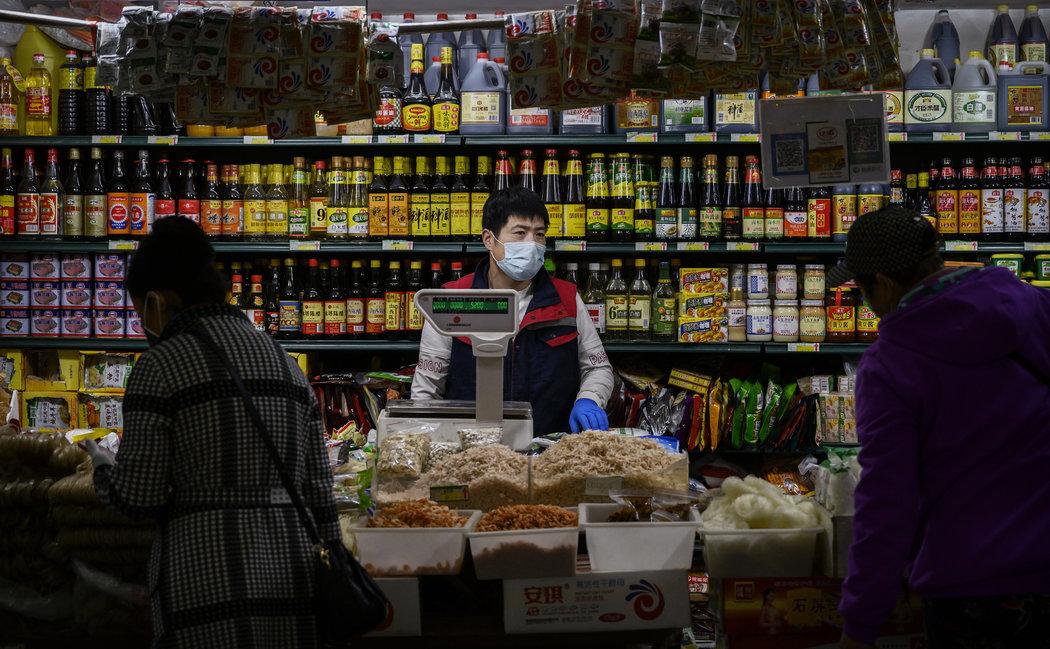 上月,北京的一个菜市场。