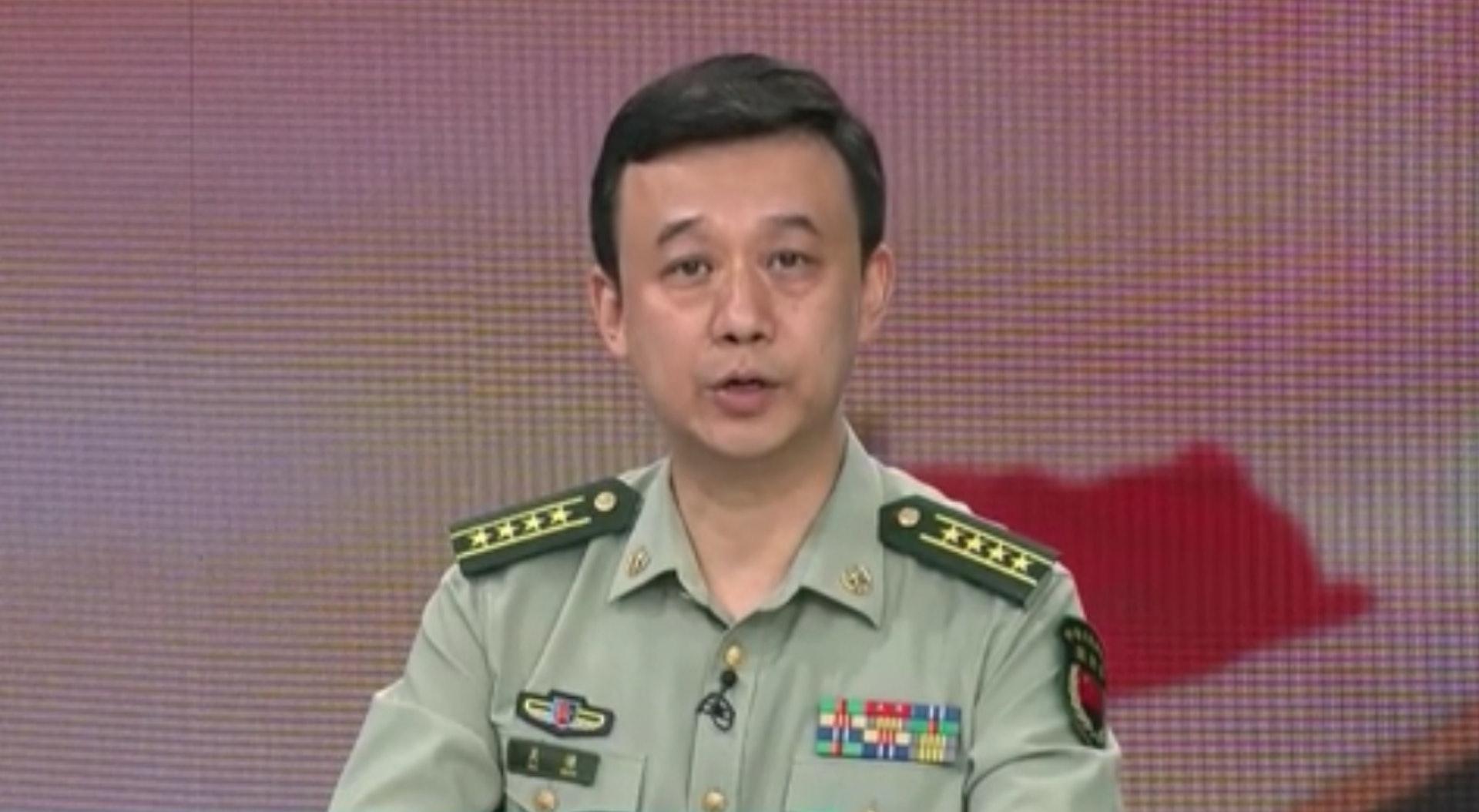 吴谦表示,中国国防费用适度稳定增长是理所应当,「很有必要。」(影片截图)